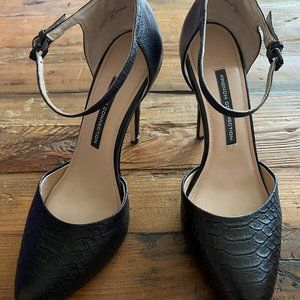 French Connection- Catia Snake-Print Leather Pump